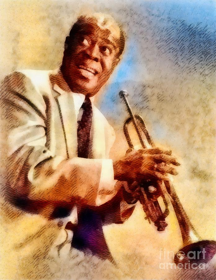 Louis Armstrong, Music Legend Painting