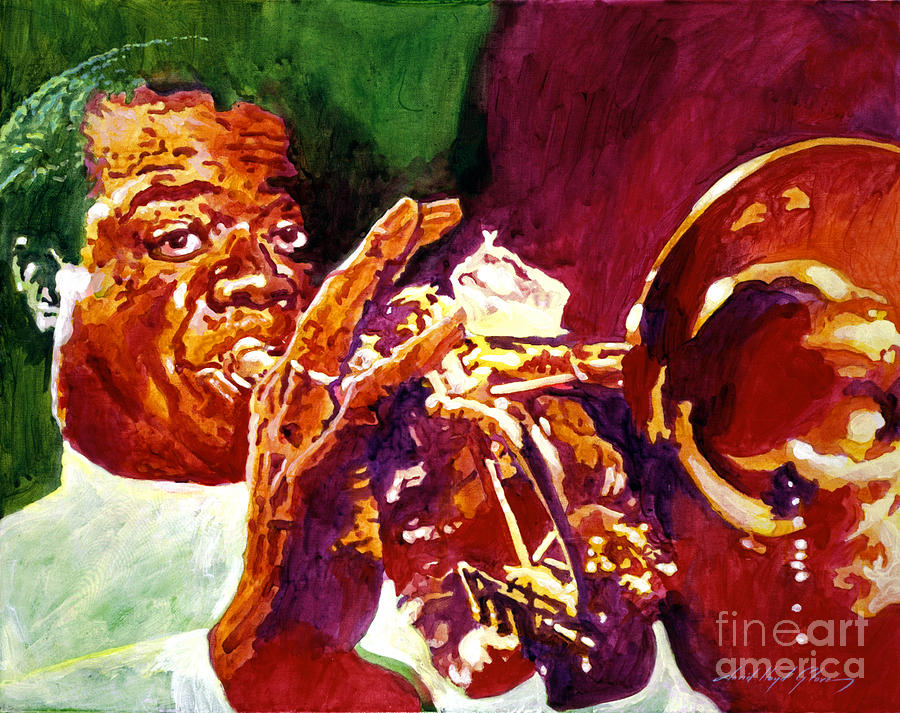 Louis Armstrong Painting - Louis Armstrong Pops by David Lloyd Glover