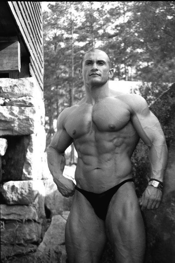 Muscle Model Photograph - Louis Astri by Jake Hartz