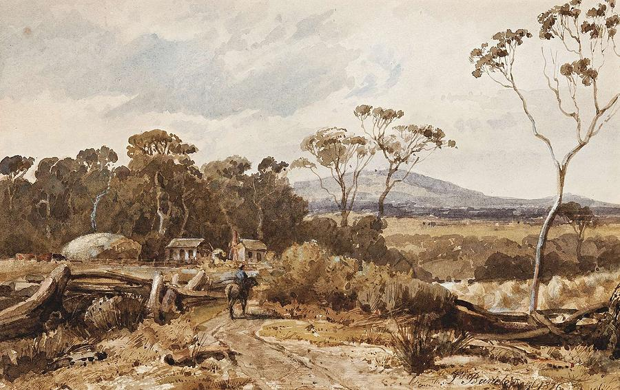 Nature Painting - Louis Buvelot , At Ballan, 1876 by Louis Buvelot