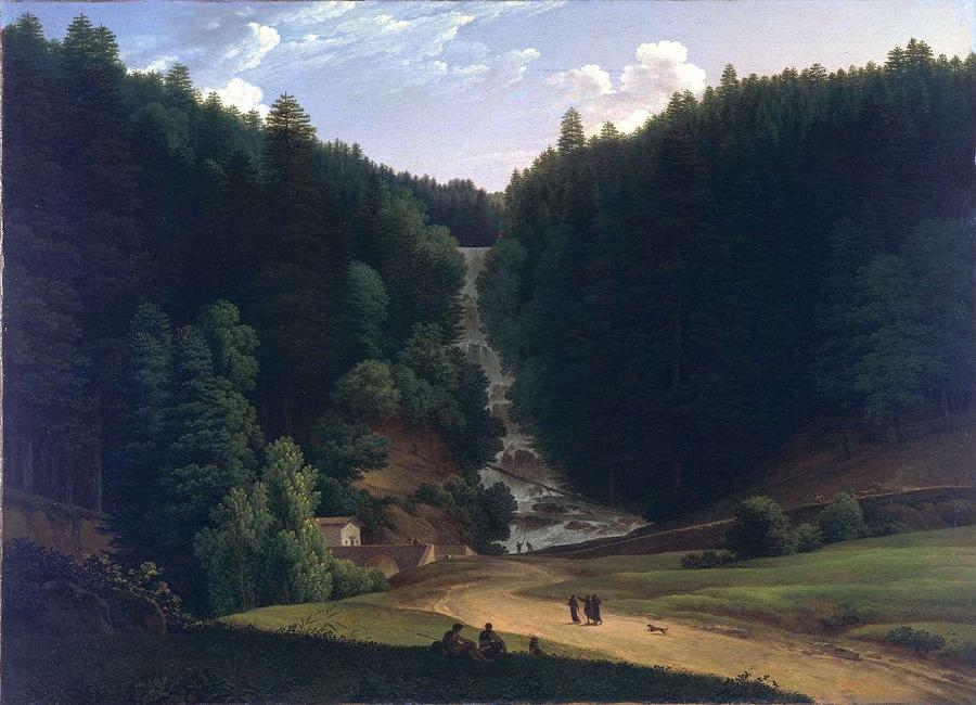 Nature Painting - Louis Gauffier  View Of Falls At Vallombrosa by Louis Gauffier