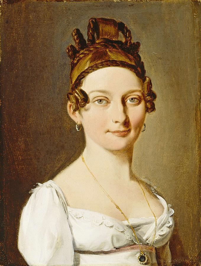 Girl Painting - Louis-leopold Boilly - Portrait Of A Lady by Louis-Leopold Boilly