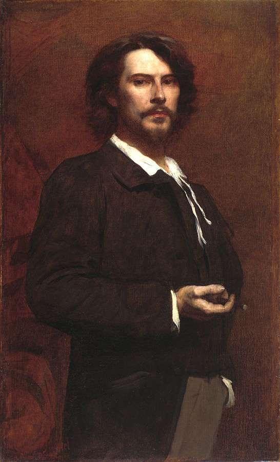 Man Painting - Louis Maurice Boutet De Monvel  Portrait Of Paul Mounet by Louis Maurice Boutet de Monvel
