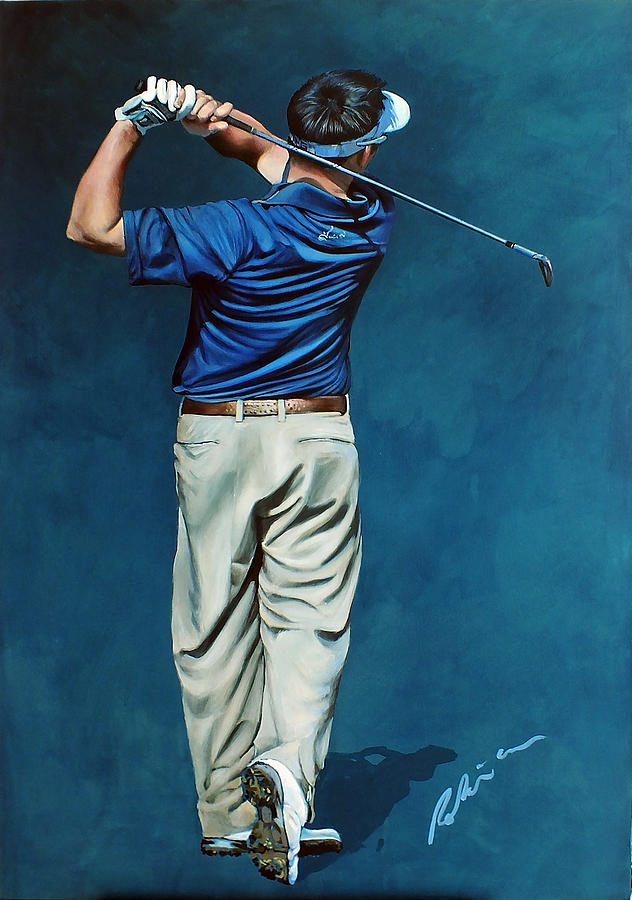 Louis Oosthuizen Painting - Louis Osthuizen Open Champion 2010 by Mark Robinson