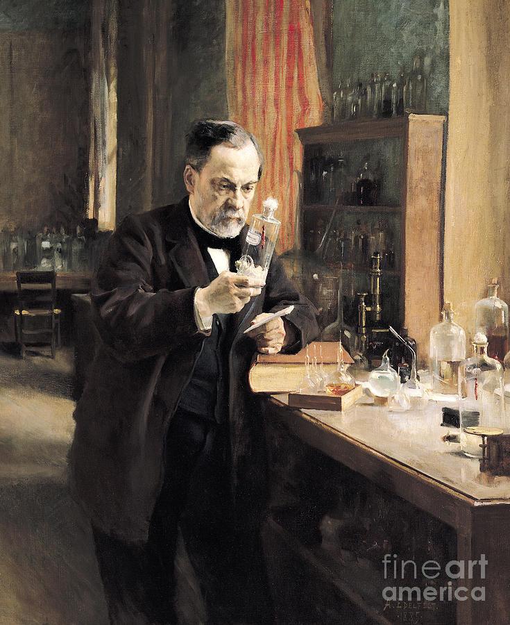 Pasteur Painting - Louis Pasteur by Albert Gustaf Aristides Edelfelt