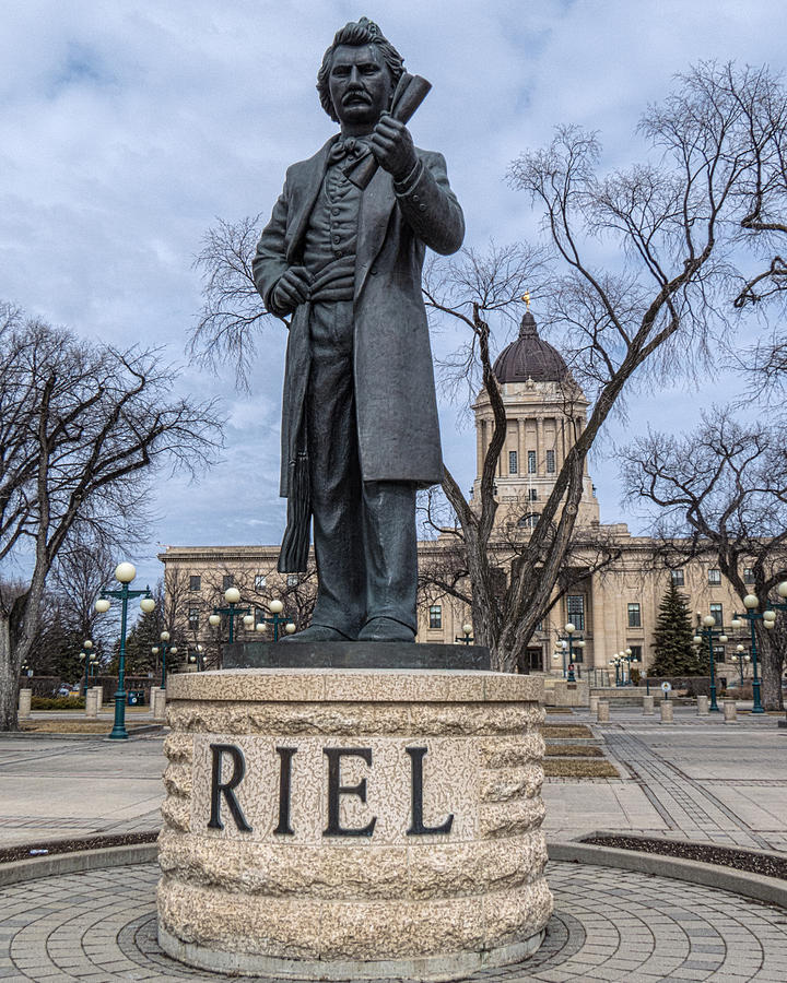 Louis Riel Statue At The Manitoba Legislative Building Photograph