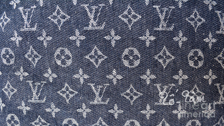 Louis Vuitton Photograph - Louis Vuitton Blue Jean Fabric Monogram by To-Tam Gerwe