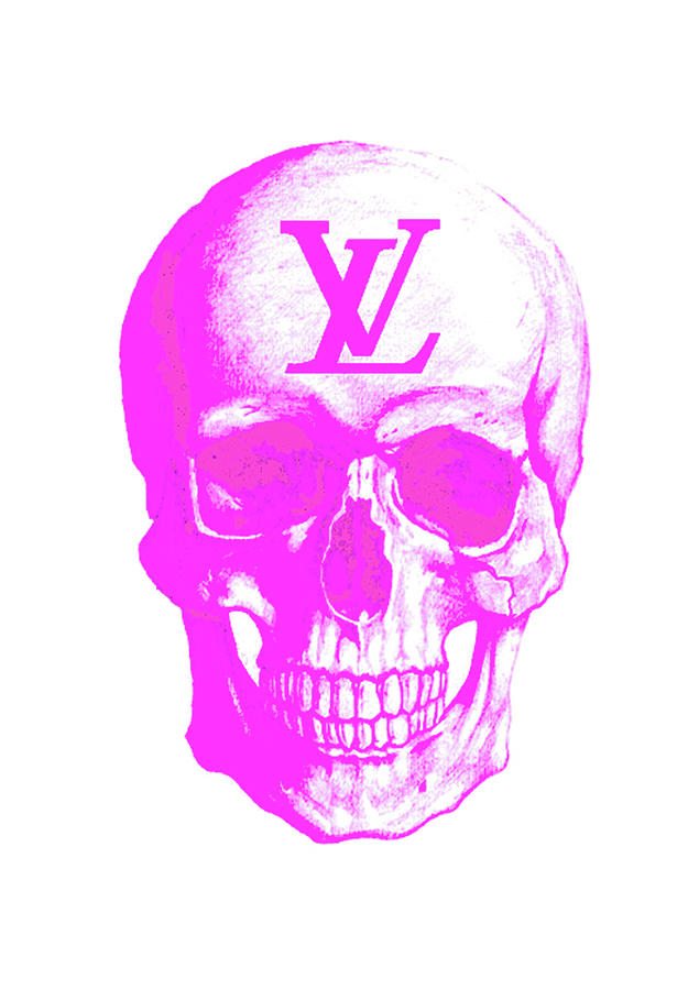 3656aa516773 Louis Vuitton Skull Poster Painting by Del Art