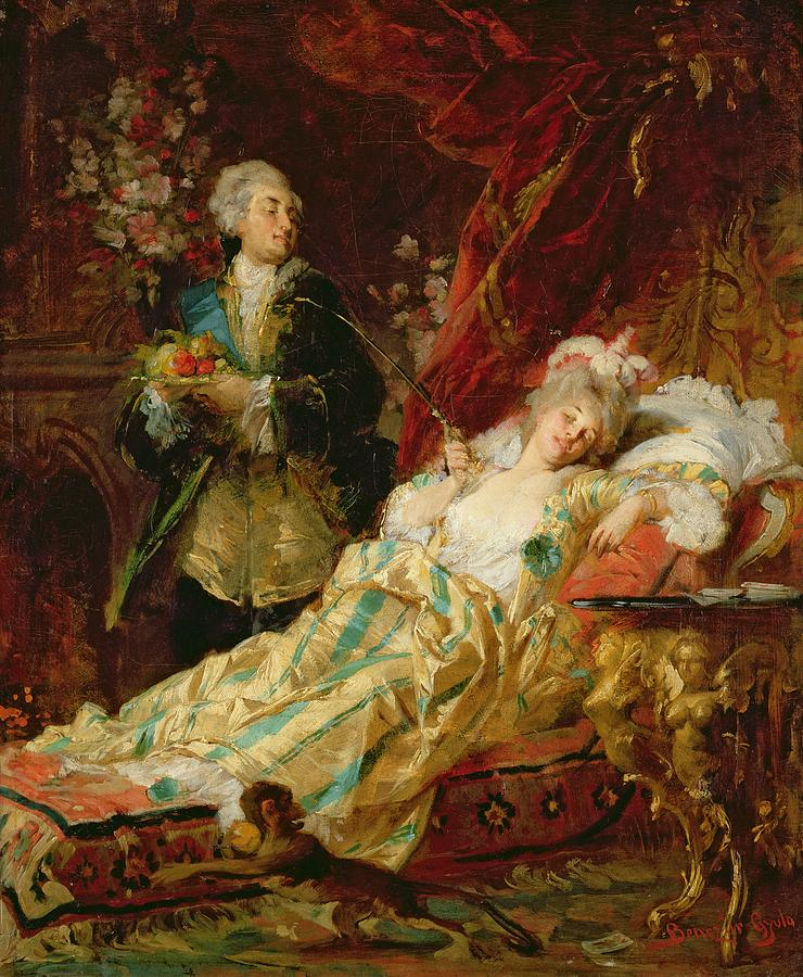 Louis Painting - Louis Xv And Madame Dubarry by  Gyula Benczur