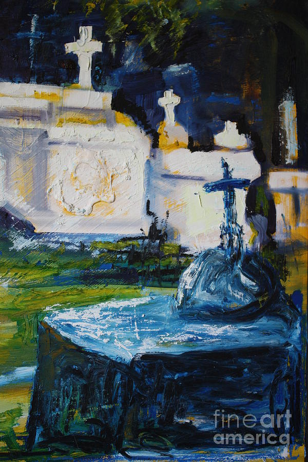 Louisiana Painting - Louisiana Cemetery by Glenda Kinnison Smith