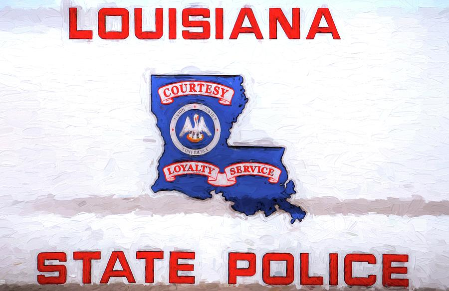 Police Photograph - Louisiana State Police by JC Findley