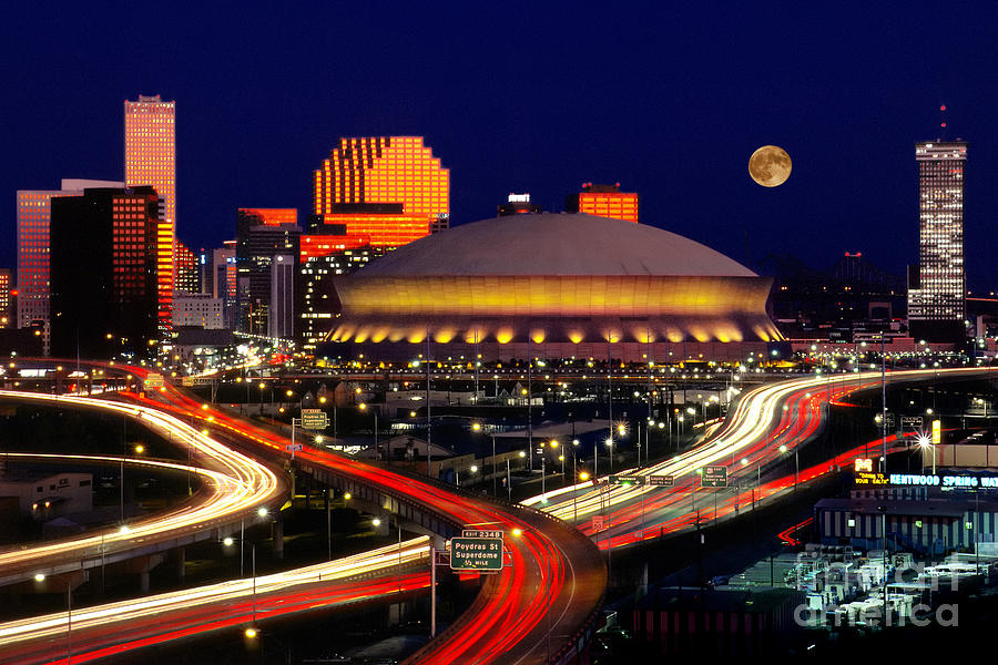 Louisiana Superdome, New Orleans Photograph by Jerry Lodriguss