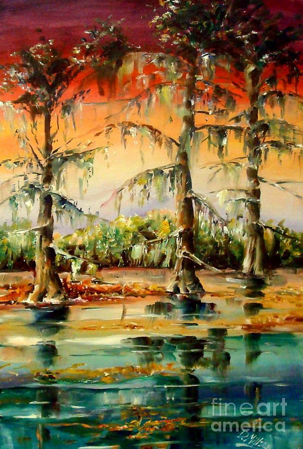 Louisiana Painting - Louisiana Swamp by Diane Millsap