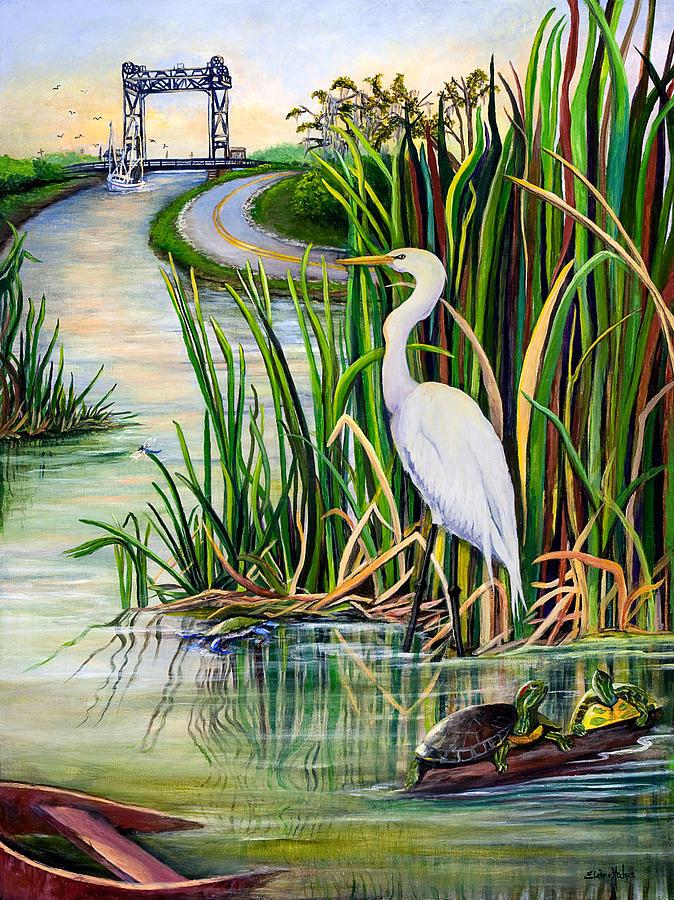 Louisiana Painting - Louisiana Wetlands by Elaine Hodges