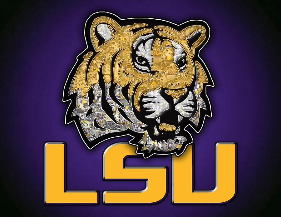 Louisiana State University Photograph - Louisiana State University Tigers  Football by Fairchild Art Studio 266ef16f7