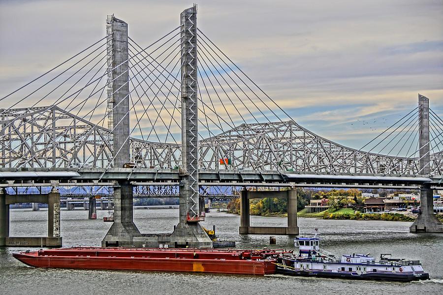 Usa Photograph - Louisville Bridges by Dennis Cox WorldViews