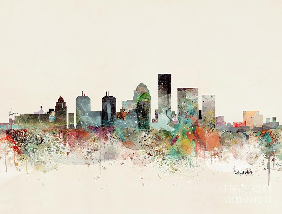 Louisville Kentucky Painting - Louisville Kentucky Skyline by Bri Buckley
