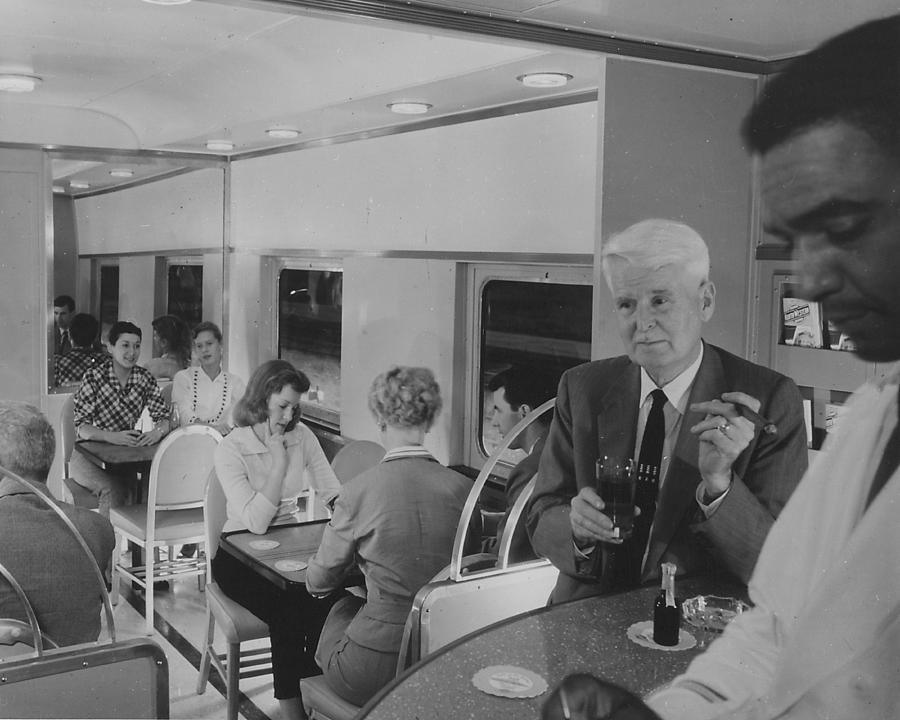 Passenger Trains Photograph - Lounge in Bilevel 400  by Chicago and North Western Historical Society