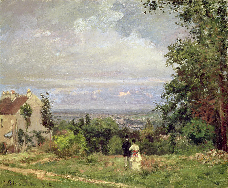 1870 Painting - Louveciennes by Camille Pissarro