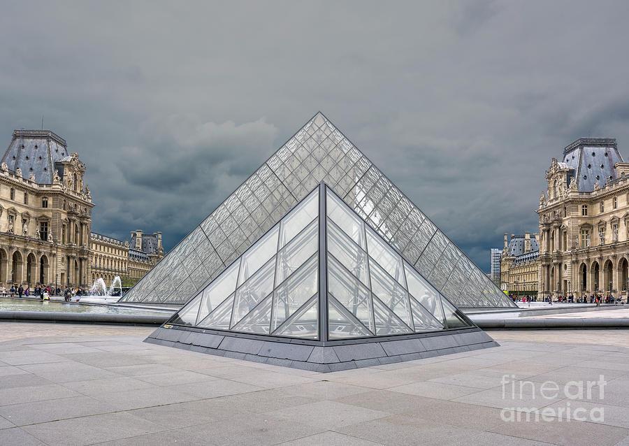 Louvre Pyramids by Tim Mulina