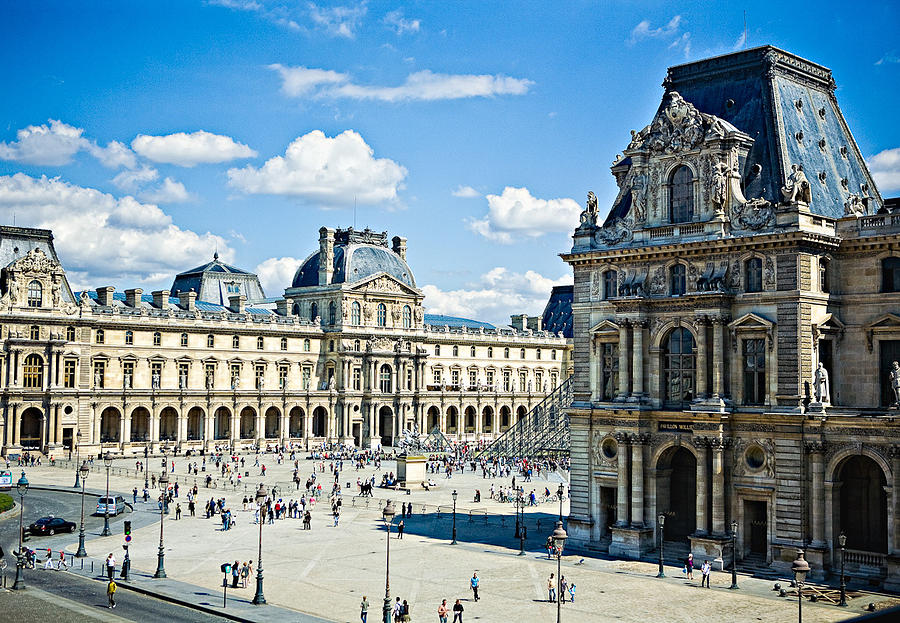 Louvre Photograph - Louvre by  Samdobrow  Photography