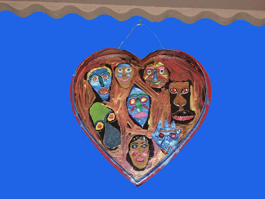 Lovable Funny Faces Mixed Media by Betty  Roberts