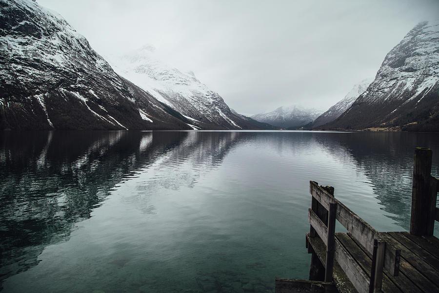 Lovatnet Lake by Aldona Pivoriene