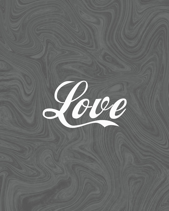 Love 1 - Minimalist Print - Typography - Quote Poster Mixed Media