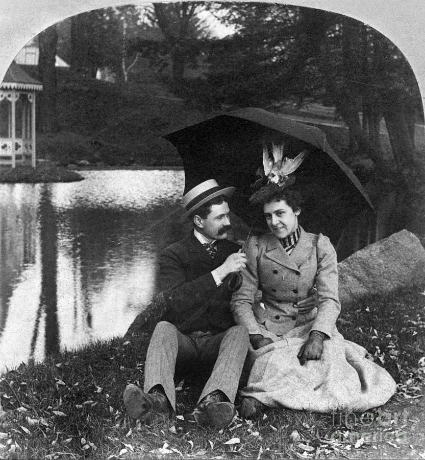 1900 Photograph - Love, 1900 by Granger
