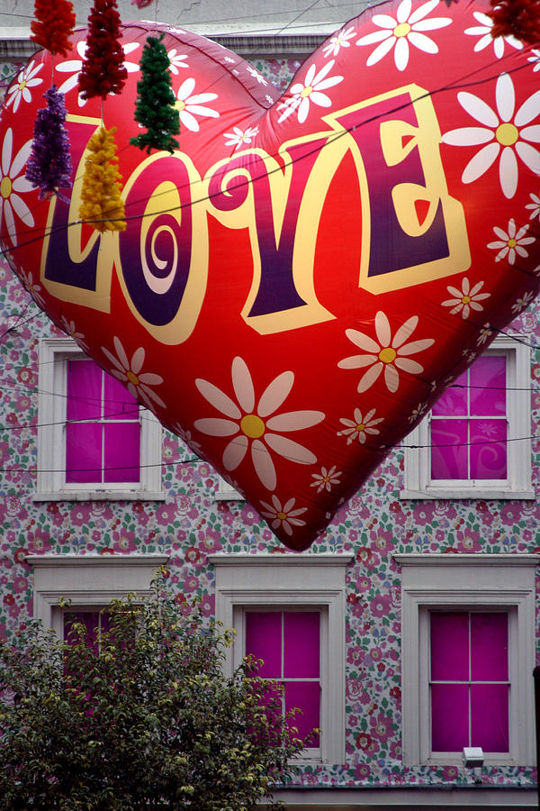London Photograph - Love Above by Jez C Self