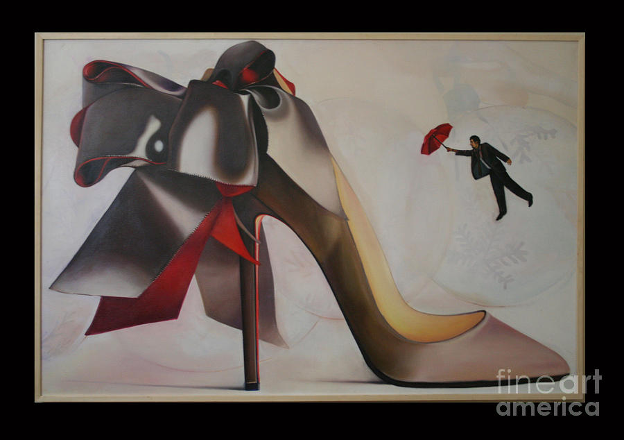 Shoes Painting - Love by Aisha Gul