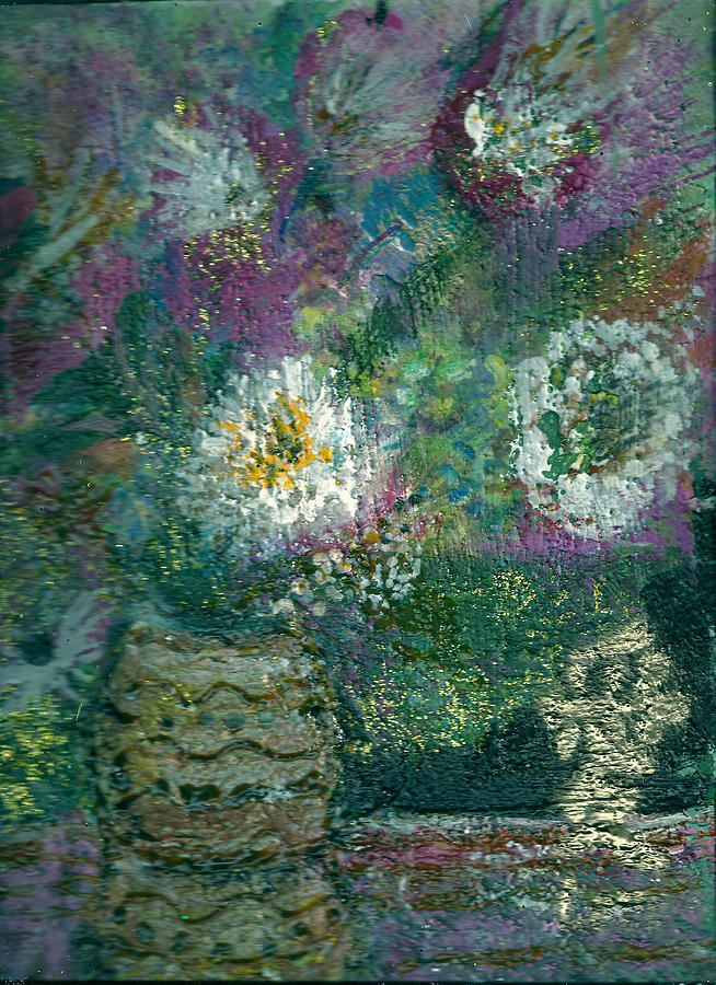 Flowers Painting - Love And A Daisy  by Anne-Elizabeth Whiteway