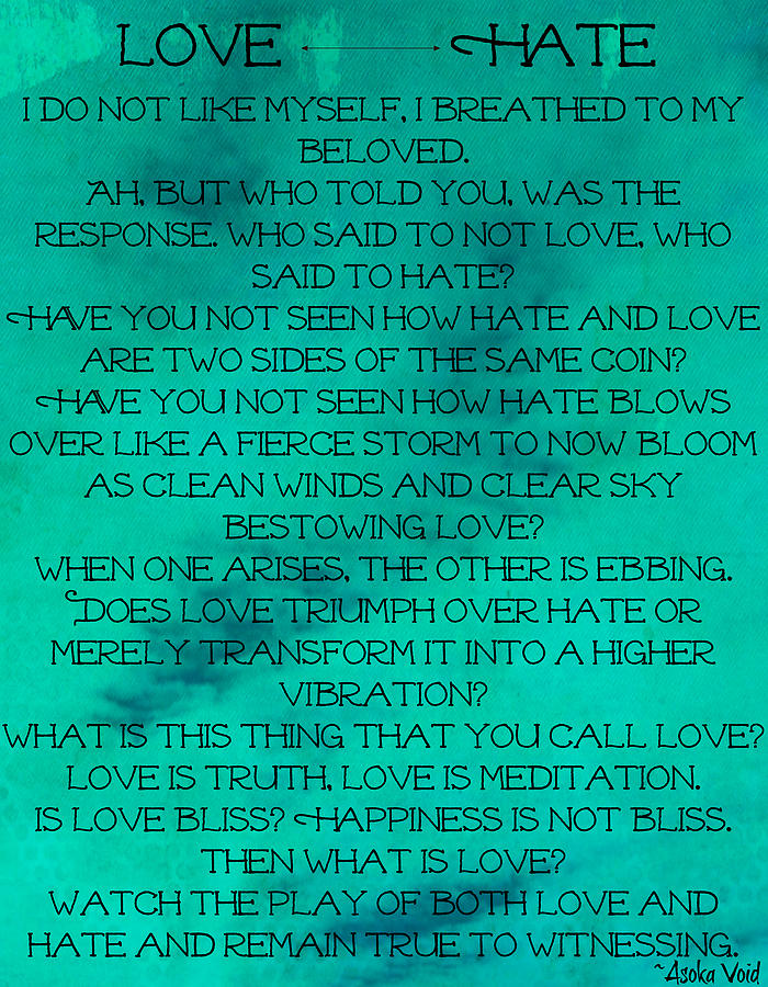 Love and Hate by Catherine Asoka Void