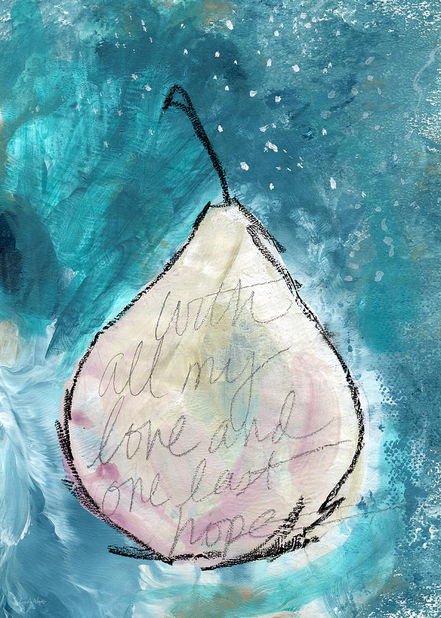 Love And Hope Pear- Art By Linda Woods Painting