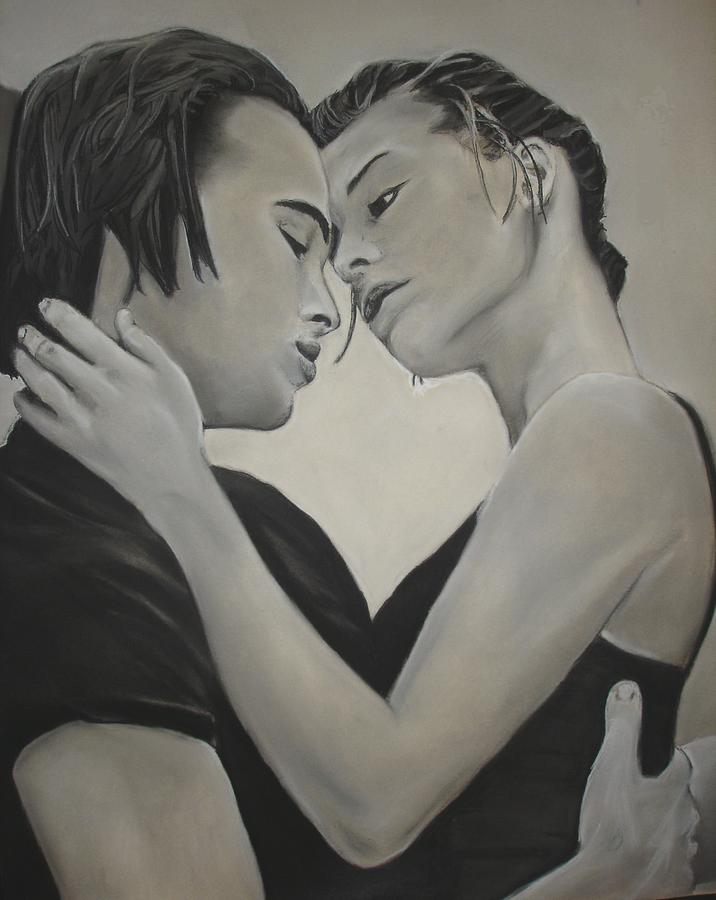 Charcoal Drawing - Love And Longing by Kerra Lindsey