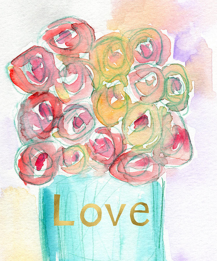 Roses Mixed Media - Love And Roses- Art By Linda Woods by Linda Woods