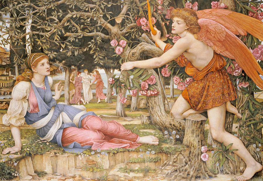 Love And The Maiden Painting - Love And The Maiden by JRS Stanhope