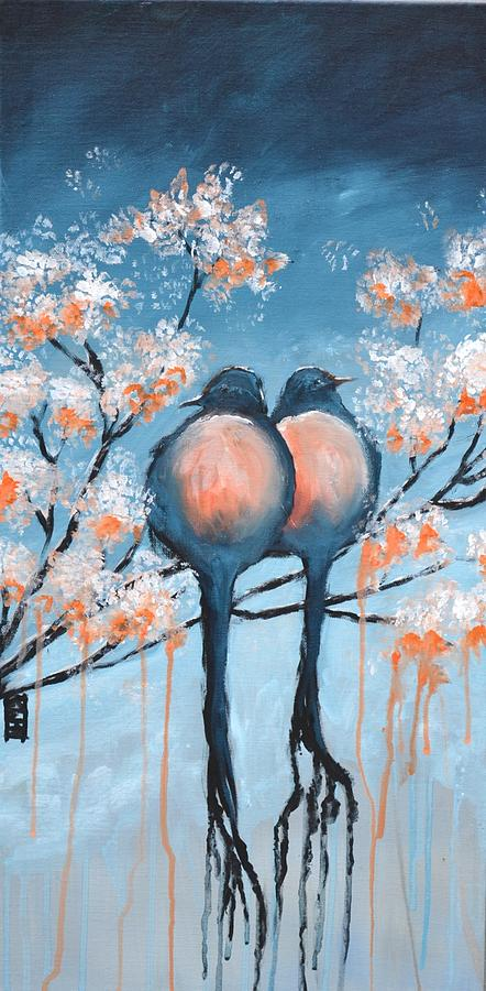 Love Birds Painting - Love Birds by Holly Donohoe