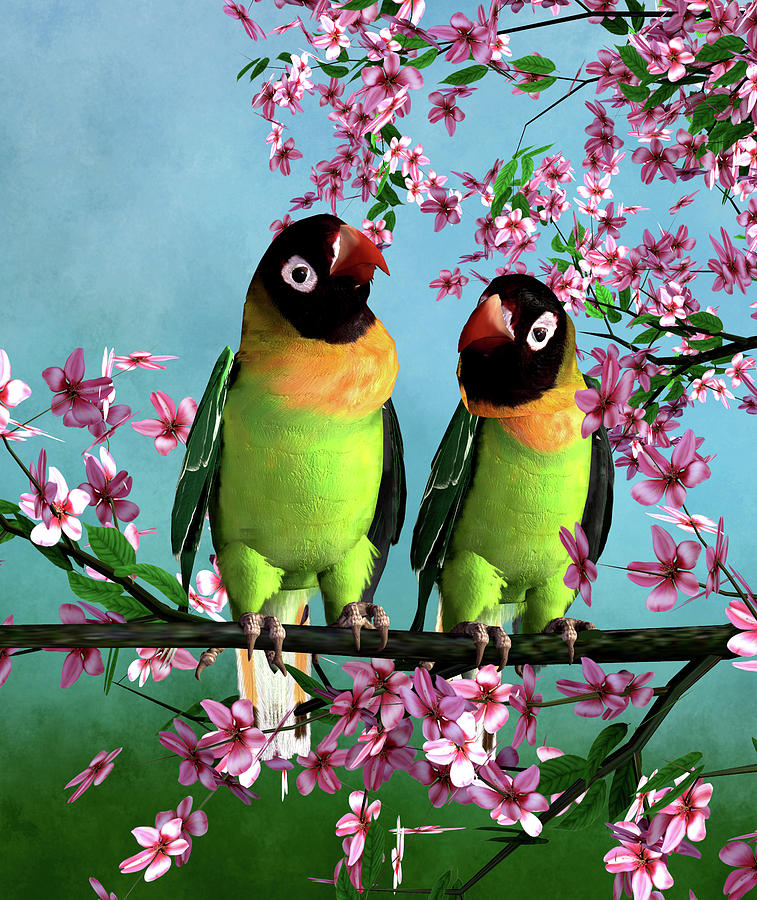 Love Birds Digital Art - Love Birds by John Junek
