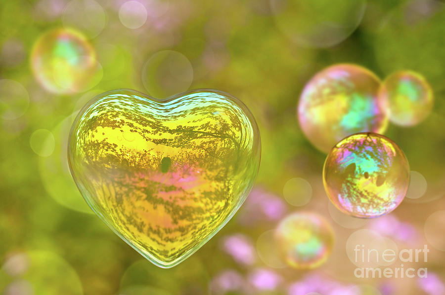 Heart Photograph - Love Bubble by Delphimages Photo Creations
