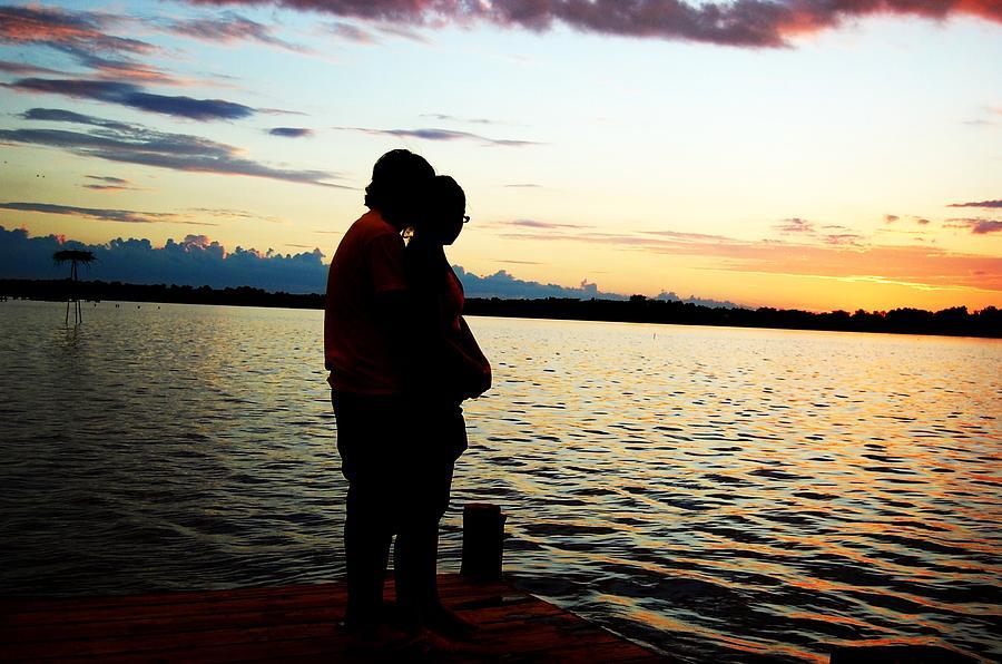 Sunset Photograph - Love by Chelsea Jones