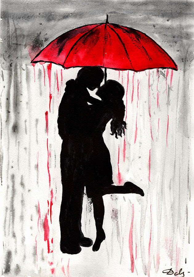 Love Couple Painting By Del Art
