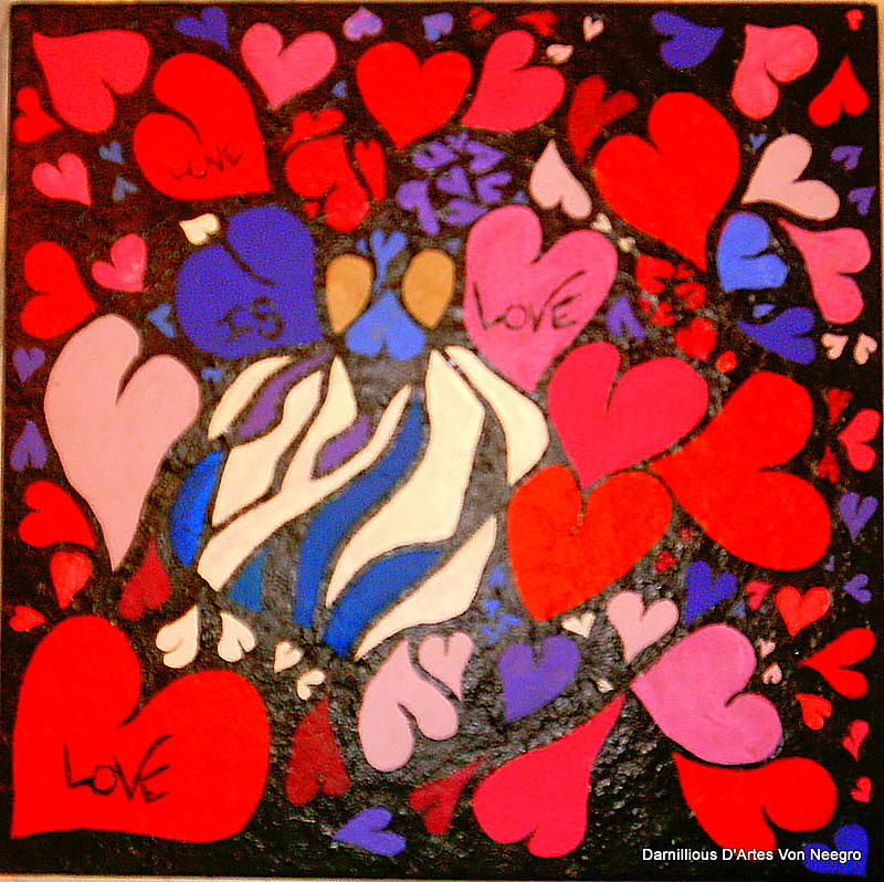 Love Painting - Love by Darnillious Designs