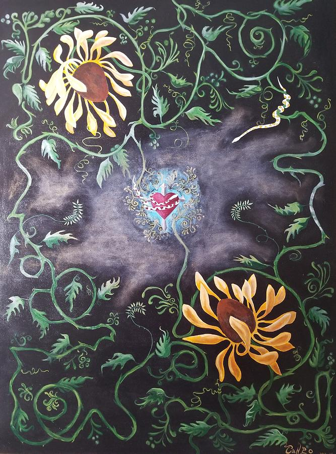 Flower Painting - Love Demise by Ron Tango Jr