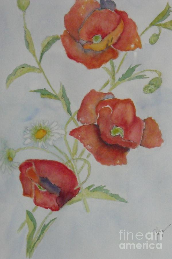 Flower Painting - Love by Djl Leclerc