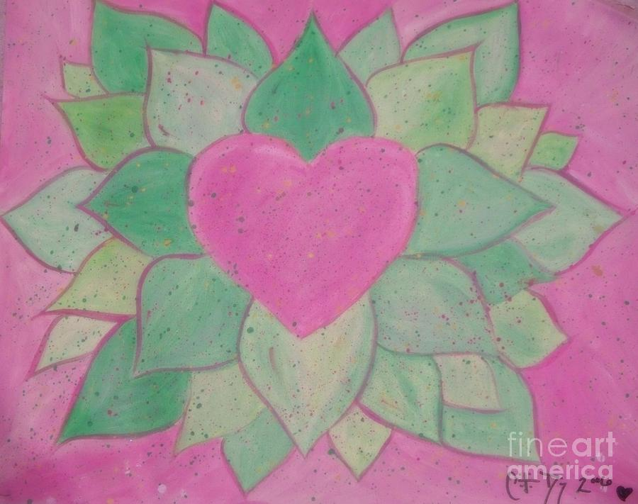 Love Flowers Painting - Love Flowers by Sacred  Muse