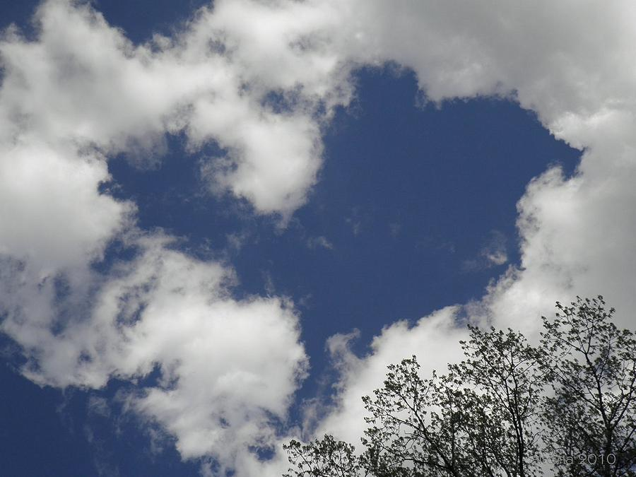 Sky Photograph - Love From Above by T Cook