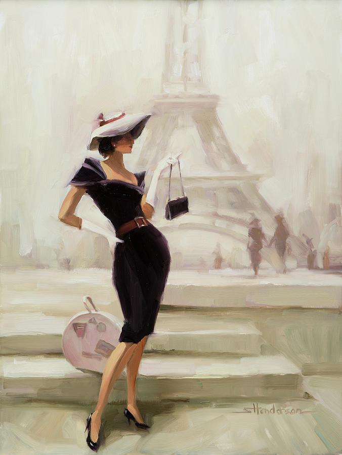 Paris Painting - Love, from Paris by Steve Henderson