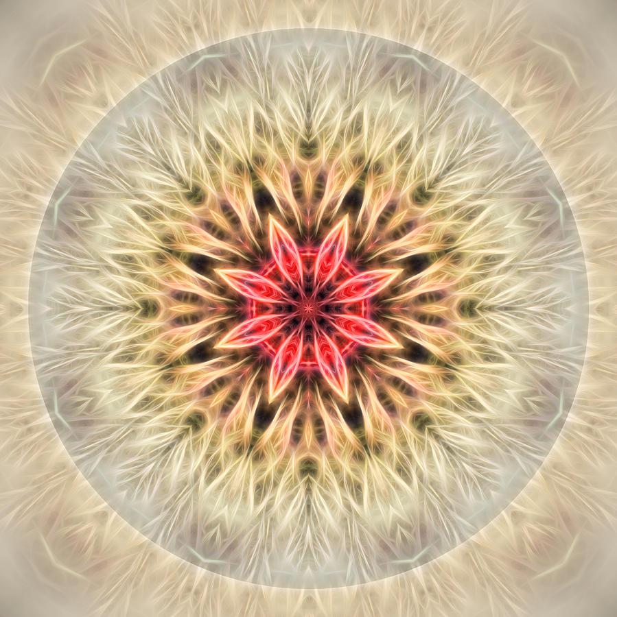 Mandala Digital Art - Love From Within Mandala by Beth Sawickie