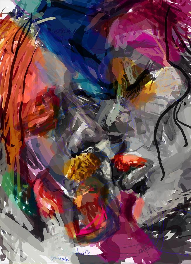 Man Digital Art - Love Hate Being by James Thomas